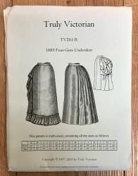 Schnittmuster - 1885 Four-Gore Underskirt - TrulyVictorian Pattern