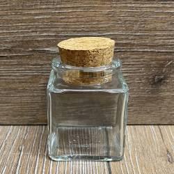 Glas - Korkenglas - 50ml - eckig mit Presskorken