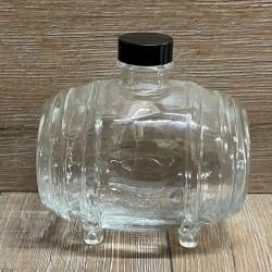 Flasche - Motiv - Fass - 500ml Kunststoff Verschluss