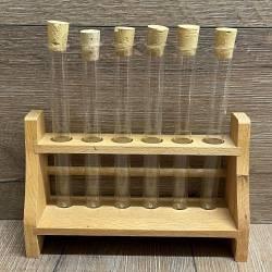 Holzgestell für 6 Reagenzgläser (16mm)