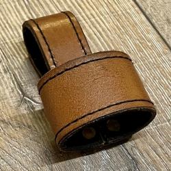 Leder - Dolchhalter/ Schwerthalter genäht - braun