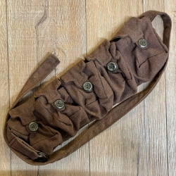 Tasche - Baumwolle - 5er Taschengürtel - braun