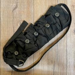 Tasche - Baumwolle - 5er Taschengürtel - schwarz