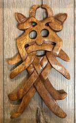 Plaque - Wandschmuck - Echtholz - Odins Maske
