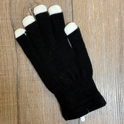 Leuchtartikel - LED Handschuh schwarz