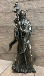 Statue - Merlin bronziert - Dekoration - Ritualbedarf