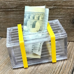 Truhe - Geduldspiel - Trickkiste - Plexi - Zaubertrick - Verpackung für Geldgeschenke & Gutscheine