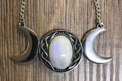 Anhänger - Tripple Moon - Mondstein - Göttin - Wicca - OBOD - ADF - Druiden - Kelten - Hexen