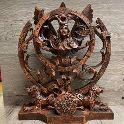 Statue - Königin des Himmels - Queen of heaven - Holzoptik - Dekoration - Ritualbedarf 8