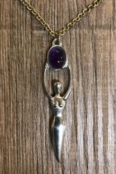 Anhänger - Göttinnen Anhänger - Goddess pendant - Amethyst - Wicca - OBOD - ADF - Druiden - Kelten - Hexen