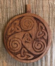Anhänger Holz - keltische Triskele