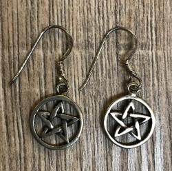 Ohrringe - Pentagramm 2er Set - 925er Silber