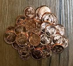 Volksmünzen* Set 2 - Erst die Arbeit... - 40 Stück - Achtung kleine Version!
