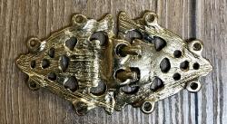 Schließe aus Metall - Gewand - Birka - 86 x 45 mm - vergoldet