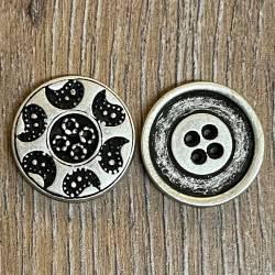 Knopf aus Metall- Paisley – 4-Loch – 18mm - Ausverkauf