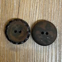 Knopf aus Polyester - dunkelbraun – 2-Loch – 30mm - Ausverkauf