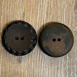 Knopf aus Polyester - dunkelbraun – 2-Loch – 35mm - Ausverkauf