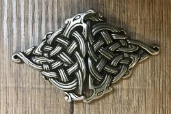 Schließe aus Metall - Gewand - Keltisch - silberfarben