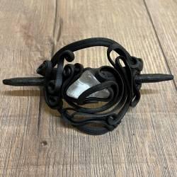 Haarspange - Kunstharz - mit Berg-Kristall - Stab