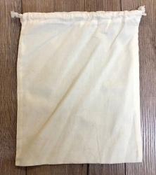Baumwollbeutel mit Schnüren XL - 30 x 25cm