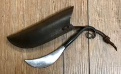 Messer - geschmiedetes Druidenmesser inkl. Lederscheide