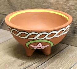 Räuchergefäß - Schale aus Ton - Pentagramm