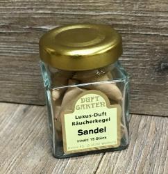 Räucherkegel - Luxus im Mini Glas - Sandelholz (beige)