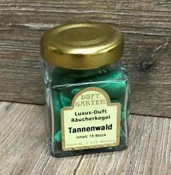Räucherkegel - Luxus im Mini Glas - Tannenwald (grün)