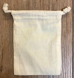 Baumwollbeutel mit Schnüren S - 14 x 10cm