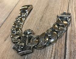 Armband - Thors Hammer 21cm - Edelstahl poliert