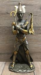 Statue - Osiris ägyptischer Gott des Jenseits, der Wiedergeburt und des Nils - bronziert