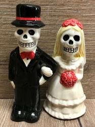 Pfeffer- & Salzstreuer - Hochzeitspaar Skelett neu - Love never dies - Salz- & Pfefferstreuer