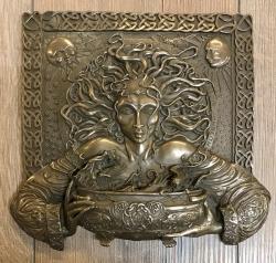 Plaque - Wandtafel - Wandschmuck - Plaque - Cerridwen - bronziert
