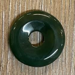 Edelstein - Donut - Chalcedon grün - 30mm