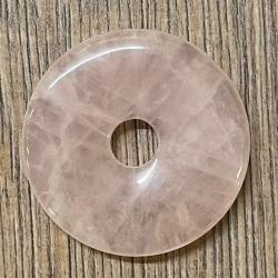 Edelstein - Donut - Rosenquarz - 40mm