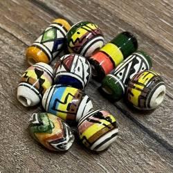 Perlen - Keramikperlen - rund, oval & länglich