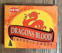 Räucherkegel - Maxikegel - Drachenblut/ Dragons Blood - 10 Stück