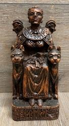Statue - Freya sitzend - Seated Freya - Holzfinish - Dekoration - Ritualbedarf