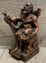Statue - Freyr sitzend - Seated Freyr - Holzfinish - Dekoration - Ritualbedarf