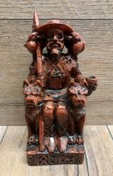 Statue - Odin sitzend - Seated Odin - Holzfinish - Dekoration - Ritualbedarf
