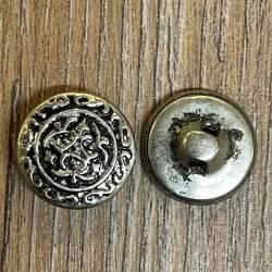 Knopf aus Metall - Ornament – Öse – 15mm
