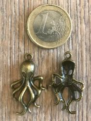 Anhänger - Charm - Cthulhu/ Tintenfisch - Zinklegierung -  Farbe: Antik Bronze