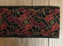 100 Borte keltischer Gobelin schwarz - 10cm breit - am laufenden Meter