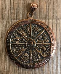Anhänger Jahresrad/ Wheel of the Year Pendant - Kupfer