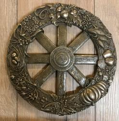 Plaque - Wandtafel - Wandschmuck - Jahresrad - Wheel of the Year Plaque - bronziert