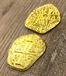 Larp Münze* - Spanische Dublone um 1651 - Gold* - 20 Stück inkl. Beutel