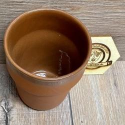 Becher - aus Ton - Bt - 0,30l mit Füllstrich - rotbraun