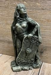 Statue - Morrigan klein - Steinoptik - Dekoration - Ritualbedarf