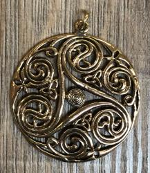 Anhänger - keltisch - Triskele durchbrochen - Bronze