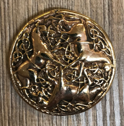 Anhänger - keltisch - Pferde massiv - Bronze